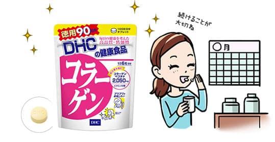 Collagen DHC Nhật Bản 2050mg liệu trình 90 ngày 540 viên