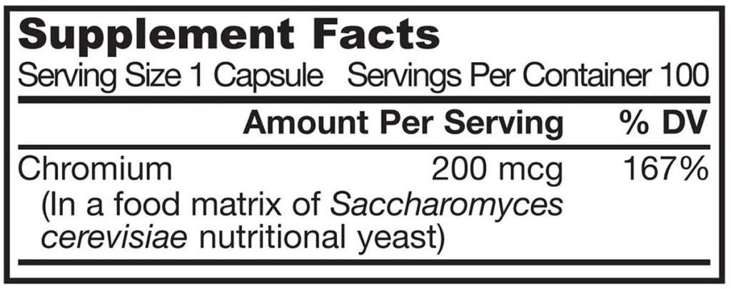 Viên uống hỗ trợ trị bệnh tiểu đường Jarrow Chromium GTF 200mcg 100 viên