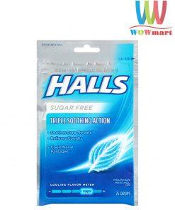 Kẹo-Halls-bạc-hà-không-đường-Halls-Sugar-Free-Triple-Smoothing-Action-25-viên