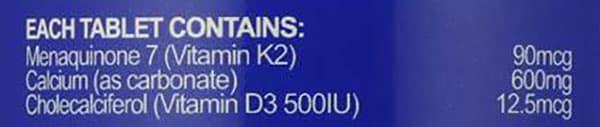 Viên uống bổ sung Vitamin K và Calcium Nature's Way Osteo-K Calcium&K2 50 viên