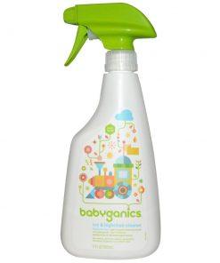 Nước rửa đồ chơi và bàn ghế Babyganics Toys & Highchair Cleaner 502ml
