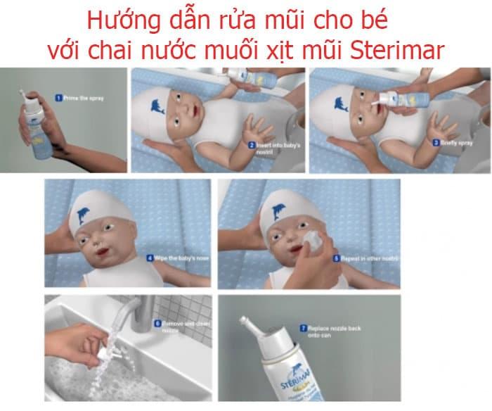 Xịt trị nghẹt mũi của Pháp Sterimar Blocked Nose Baby Decongestion 100ml