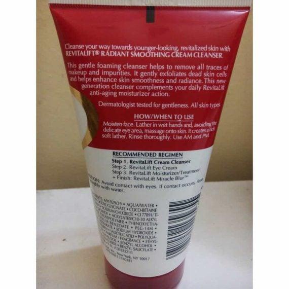 Sữa rửa mặt ngăn lão hóa L'Oreal RevitaLift Cream Cleanser 150ml