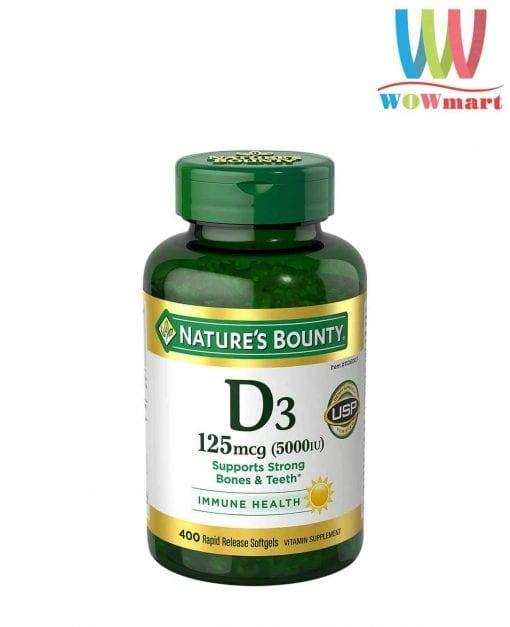 vien uong bo sung vitamin d3 natures bounty vitamin d3 5000iu 400 vien knw