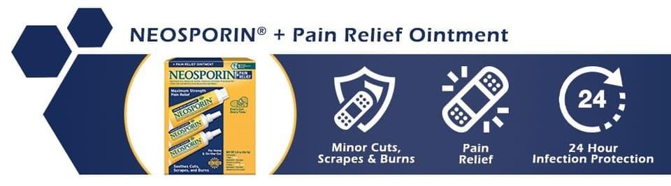 Kem mỡ trị bỏng, kháng viêm Neosporin+Pain Relief Cream Maximum Strength 56.7g