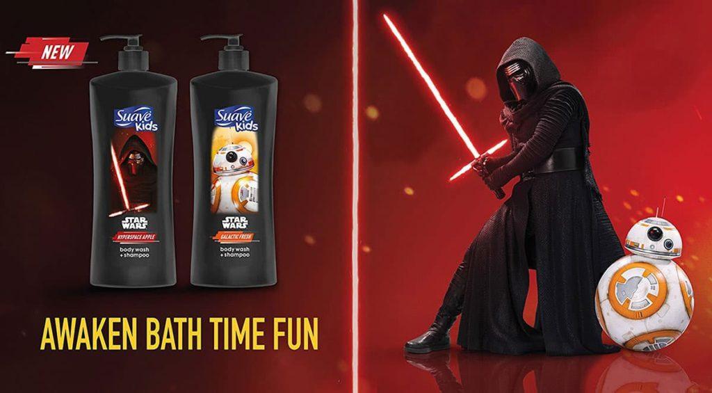 Sữa tắm gội cho bé Suave Kids Star Wars 828ml