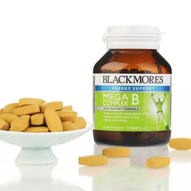 Viên uống bổ sung Vitamin B tổng hợp Blackmores Mega B Complex 31 Tablets