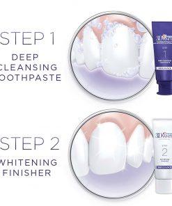 bo doi kem danh trang rang crest 3d white brilliance 2 step toothpaste