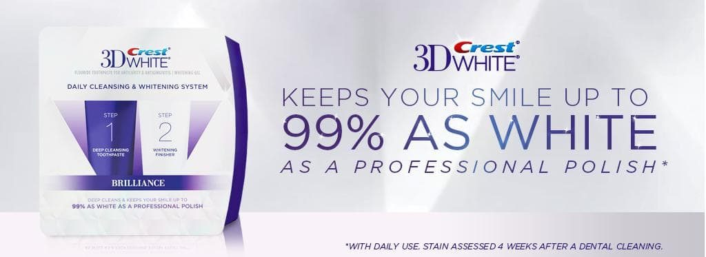 Bộ đôi kem đánh răng Crest 3D White Brilliance 2 Step Toothpaste