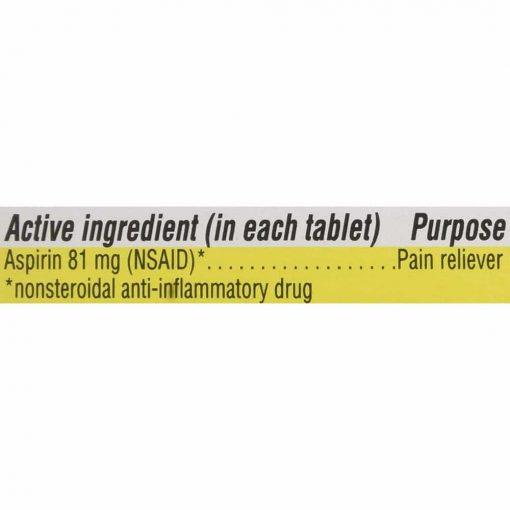 Bảo vệ tim mạch, ngăn ngừa đột quỵ Kirkland Signature Low Dose Aspirin 81mg 365 viên