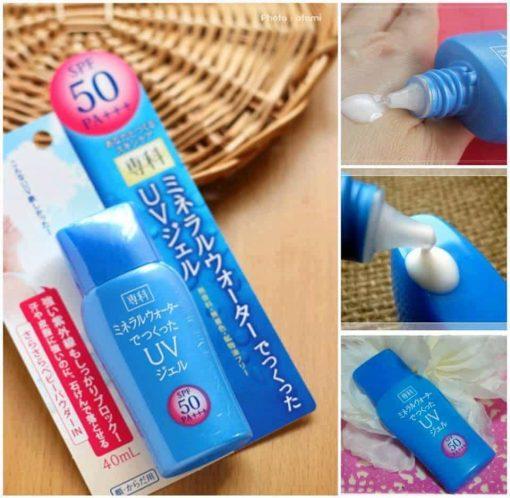 Kem chống nắng Shiseido Mineral Water Senka SPF50 của Nhật 40ml