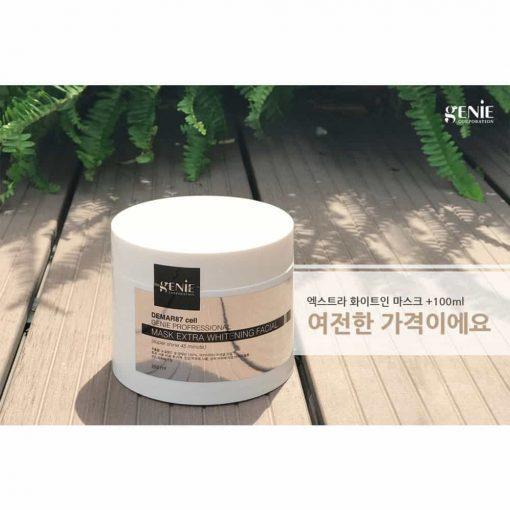 Kem ủ trắng da mặt Demar87 Cell Genie Profressional Mask Extra Whitening Facial 350g