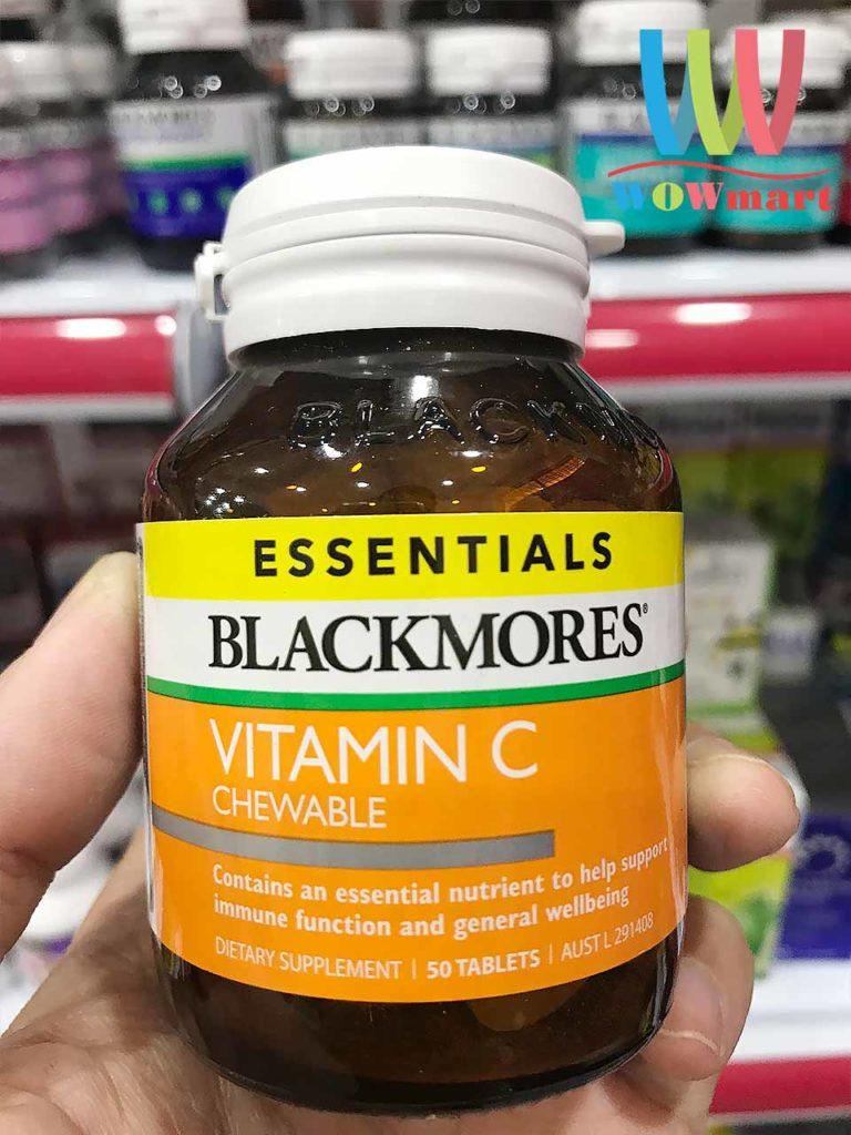 Kẹo Vitamin C Blackmores Essentials Vitamin C Chewable 50 viên