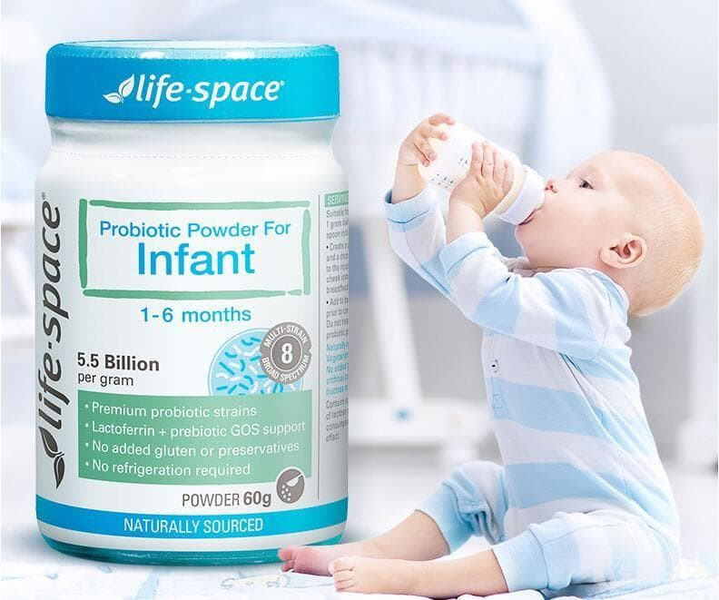 Men vi sinh cho trẻ sơ sinh Life Space Probiotic Powder For Infant 60g