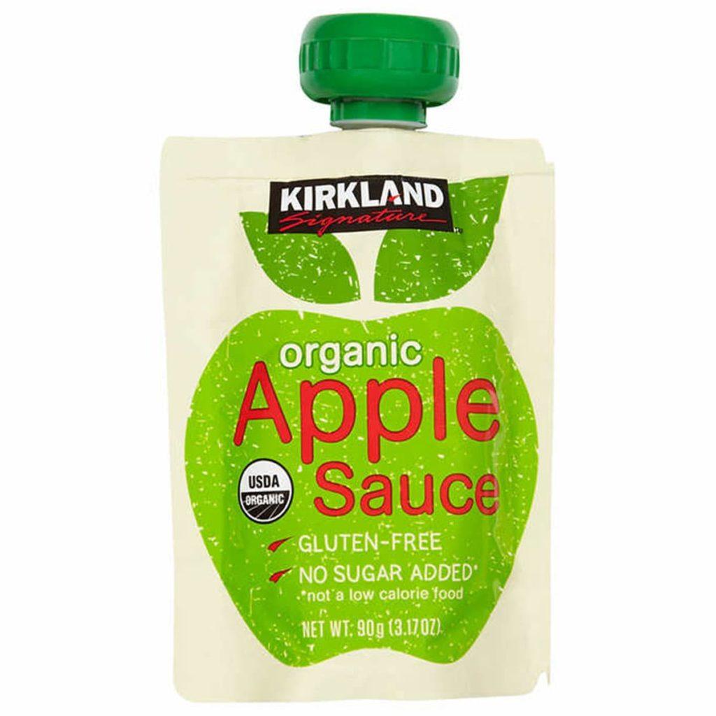 Nước ép táo Kirkland Signature Organic Apple Sauce thùng 24 túi x90g