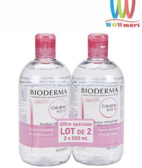 Lốc 2 nước tẩy trang Bioderma Crealine H20 TS 500ml