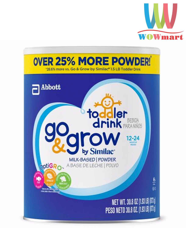 Sữa Similac cho trẻ từ 12-24 tháng tuổi Similac Go & Grow Milk-Based Toddler Drink 873g
