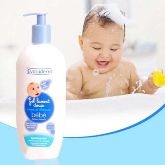 Sữa tắm gội cho bé Evoluderm bebe 500ml