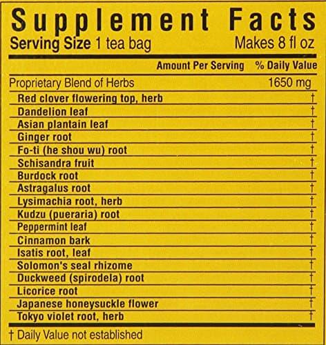 Trà thanh lọc cơ thể Triple Leaf Tea Detox Cleansing & Revitalizing Hộp 20 túi