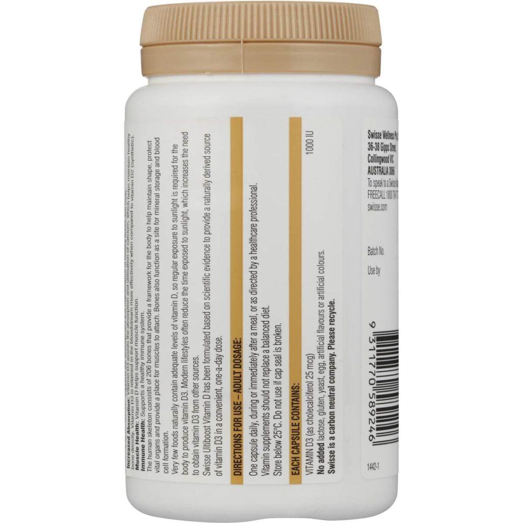 Viên uống bổ sung vitamin D Swisse Vitamin D 250 viên