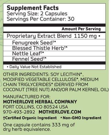 Viên uống lợi sữa Motherlove More Milk Plus 60 viên
