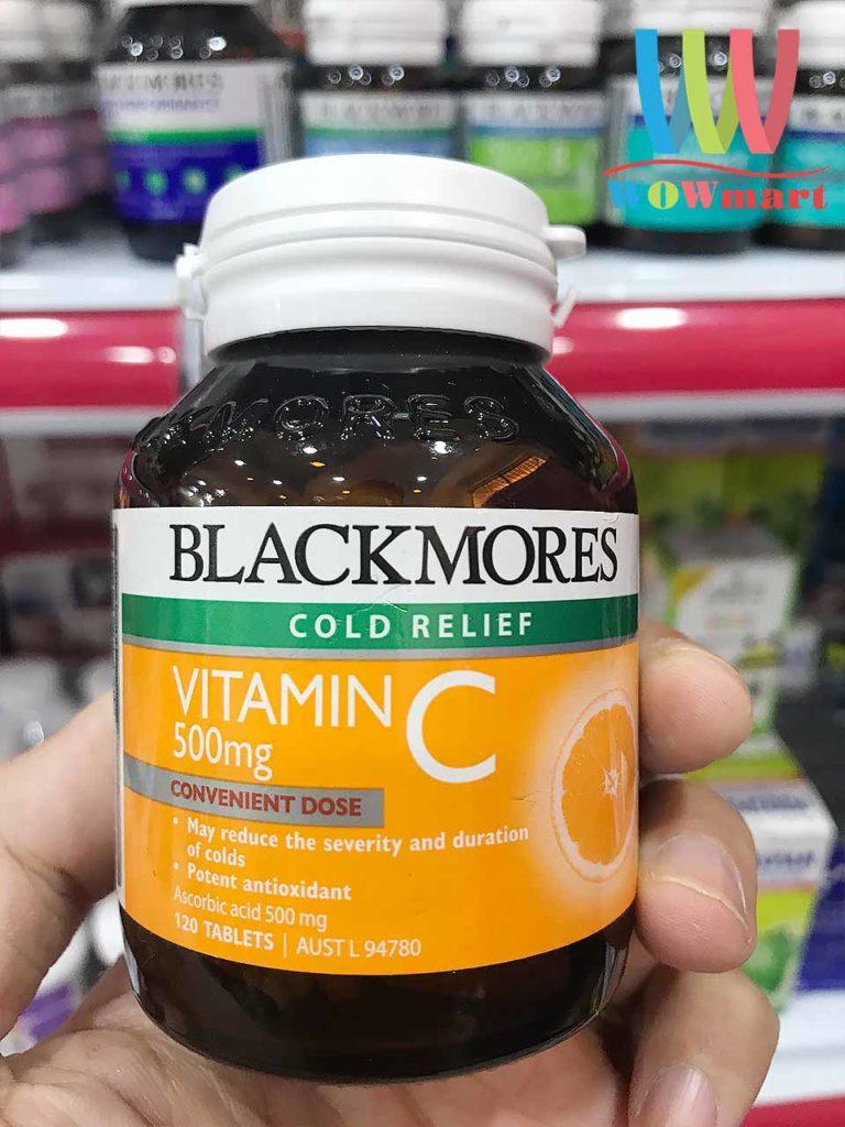 Viên uống tăng sức đề kháng Blackmores Vitamin C 500mg Cold Relief 120 viên