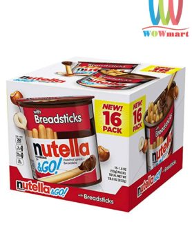 Bánh que chấm chocolate Nutella & Go Hazelnut Spread with Breadsticks 624g (Loại 16 gói)