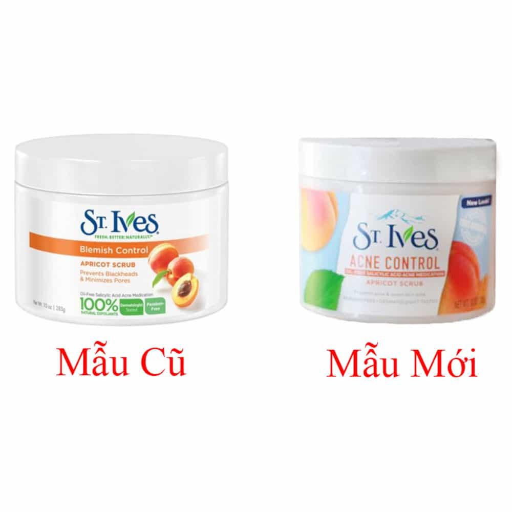 Kem dưỡng da hương mơ St.Ives Acne Control Apricot Scrub 283g