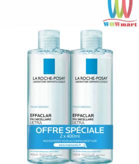 Nước tẩy trang La Roche-Posay Effaclar Eau Micellaire Ultra 400ml (x2 chai)