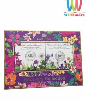 Set kem dưỡng da ngày và đêm Lariena Recovery Protecting and Whitening Moisturiser Collection 100g