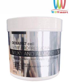 Tẩy tế bào chết body Demar87 Cell Genie Milky and Almond Body Scrub 500g