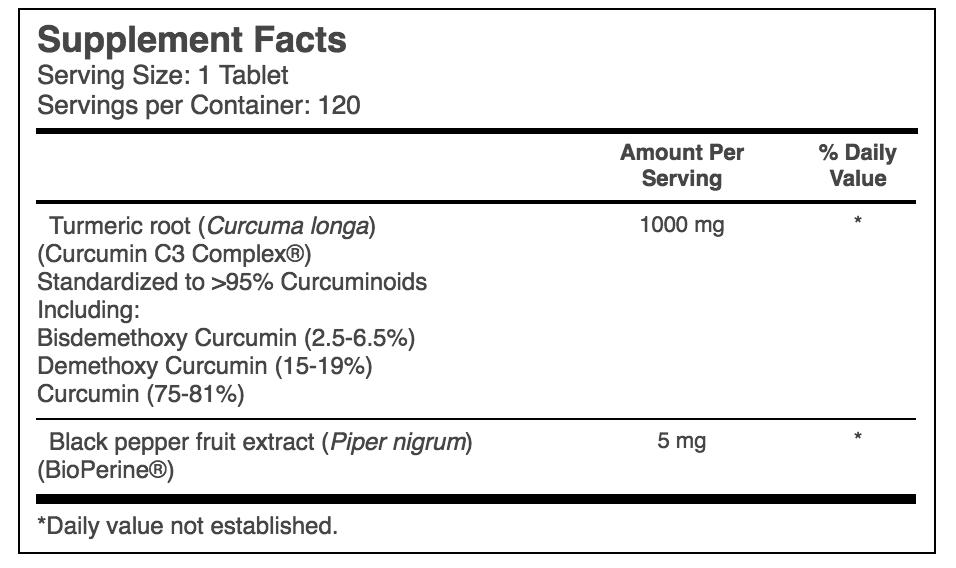 Thuốc nghệ viên Doctor's Best High Absorption Curcumin 1000mg 120 viên