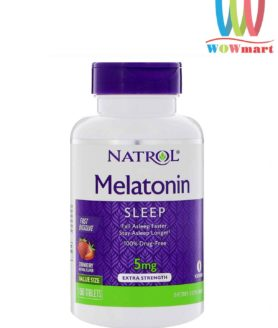 Viên ngậm giúp ngủ ngon Natrol Melatonin Sleep Drug-Free 5mg 150 viên