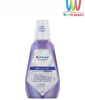 Nước súc miệng Crest 3D White Brilliance Advanced Whitening Experience Clean Mint 1L