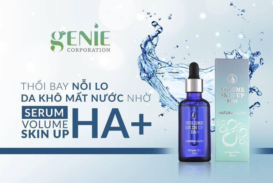 Serum HA cấp ẩm Genie Volume Skin Up HA+ Natural Glow 30ml