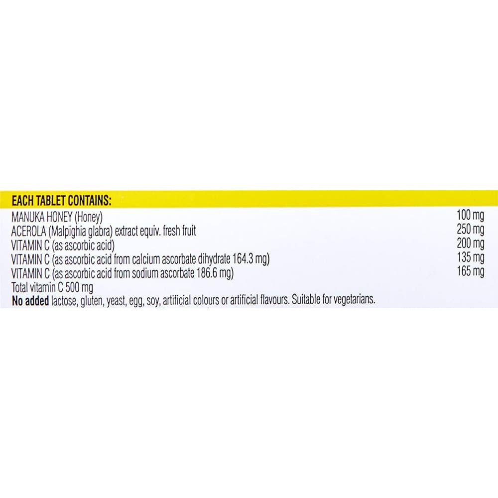 Viên nhai tăng sức đề kháng Swisse Vitamin C + Manuka Honey 120 viên