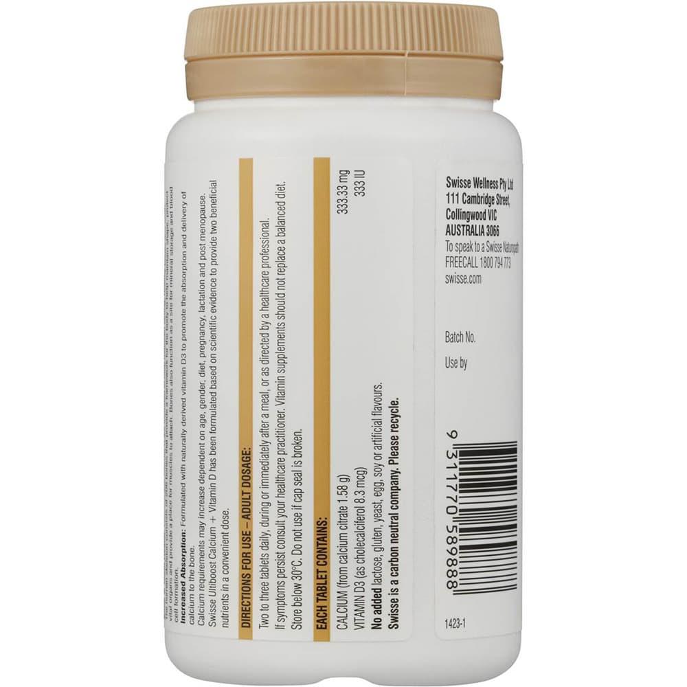 Viên uống bổ sung Canxi chống loãng xương Swisse Calcium + Vitamin D 90 viên
