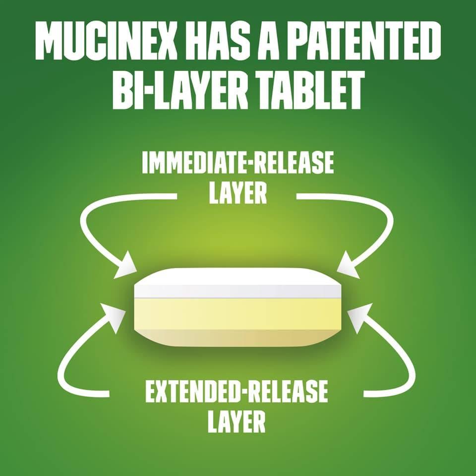 Viên uống trị ho long đờm Mucinex DM Maximum Strength 48 viên