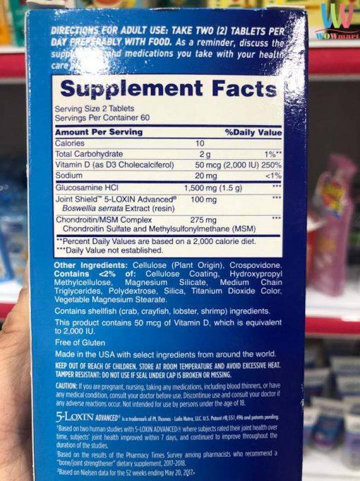 Vien uong boi bo sun khop Osteo Bi Flex Triple Strength Vitamin D 120 vien 6629