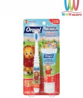 Bàn chải đánh răng cho bé Orajel Training Toothpaste kèm ống kem Orajel 28.3g (Tiger)
