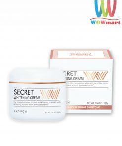 Kem dưỡng trắng da Enough Secret W Whitening Cream 100g cho mặt và body