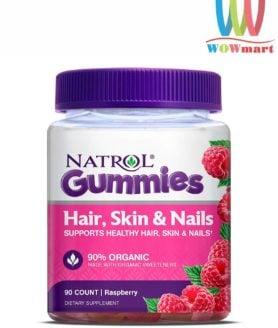 Kẹo dẻo đẹp da móng tóc Natrol Gummies Hair Skin Nails 90 viên
