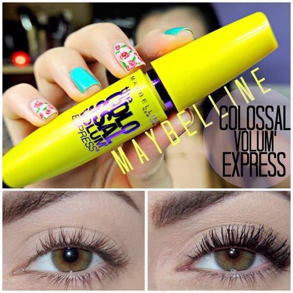 Mascara làm dày và dài mi Maybelline Volum Express The Colossal Waterproof 8ml