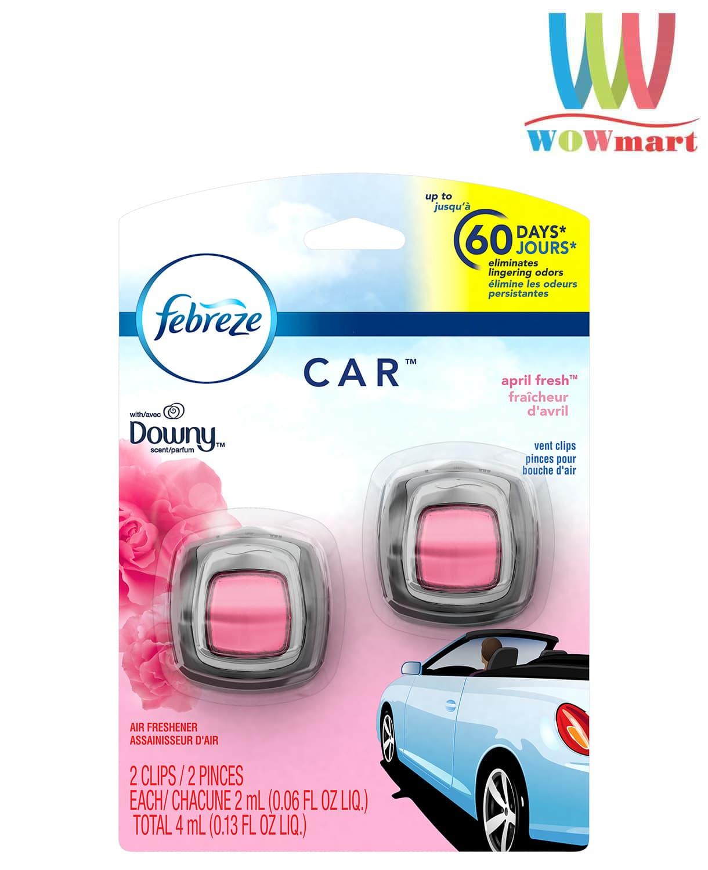 Nước hoa xe hơi Febreze Car April Fresh Downy 2ml x2 cái
