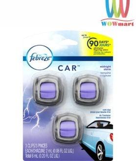 Nước hoa xe hơi Febreze Car Midnight Storm 2ml x3 cái