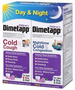 Siro trị cảm cúm, ho cho trẻ em Dimetapp Children's Cold & Cough Day & Night 118ml x 2 chai