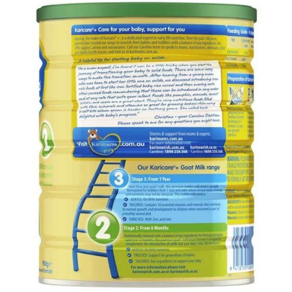 Sữa dê Karicare số 2 cho trẻ 6-12 tháng Karicare Goat Milk Formula Step 2 900g