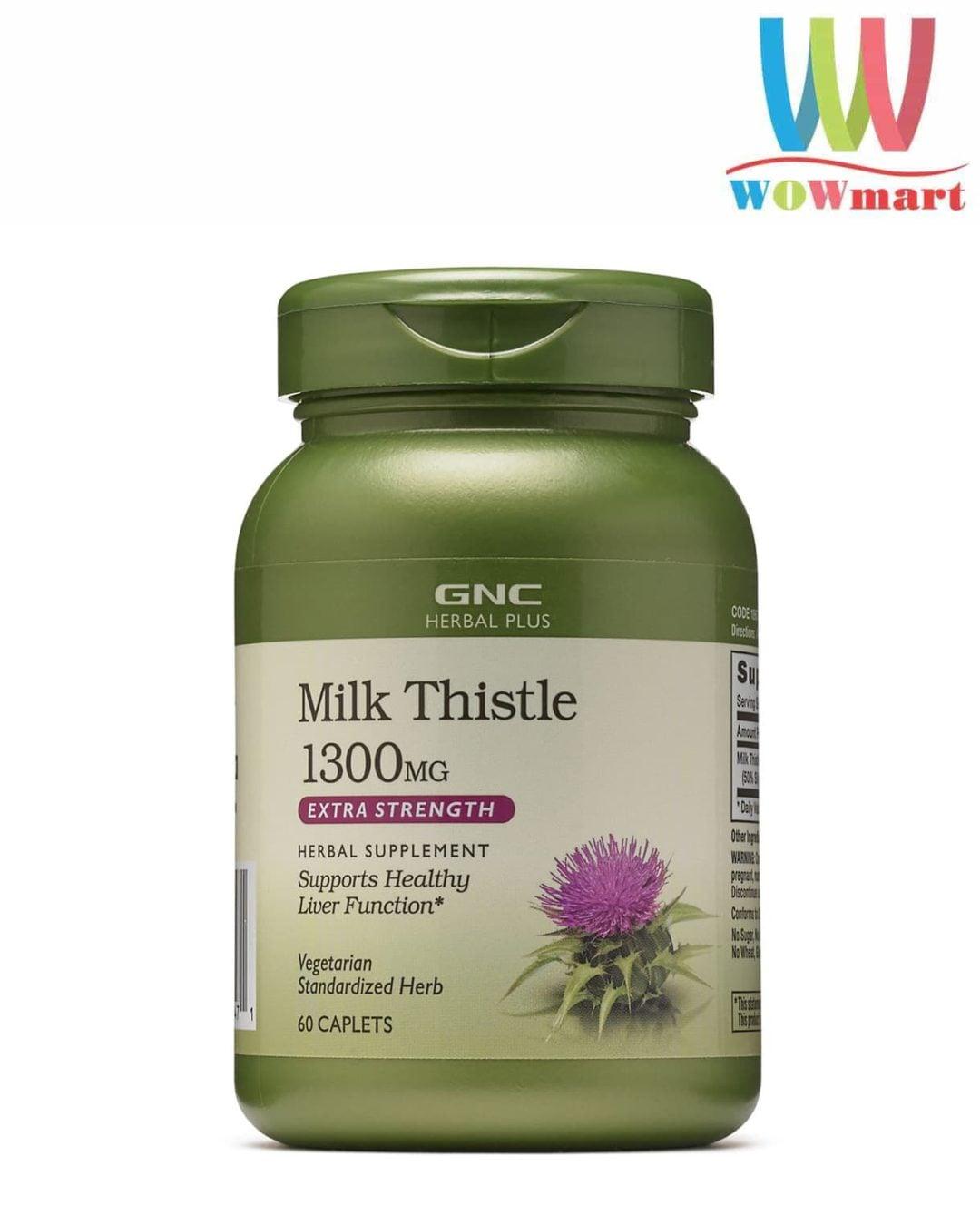 Viên uống bổ gan GNC Milk Thistle 1300mg 60 viên