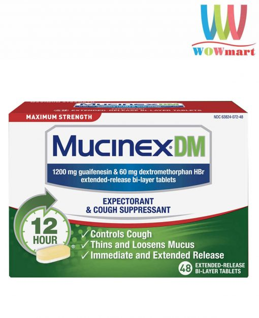 vien uong tri ho long dom mucinex dm maximum strength 48 vien