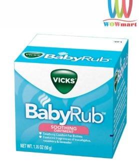 Dầu bôi ấm ngực trẻ Vicks BabyRub Soothing Ointment 50g